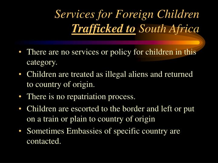 Services for Foreign Children