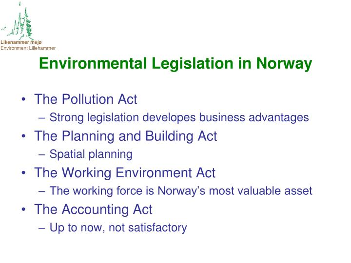 Environmental Legislation in Norway