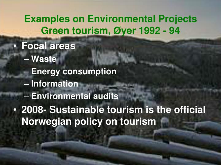 Examples on Environmental Projects