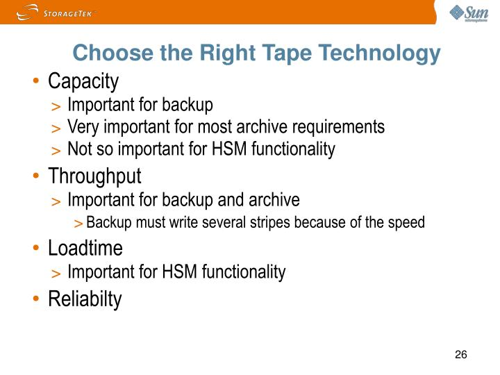 Choose the Right Tape Technology