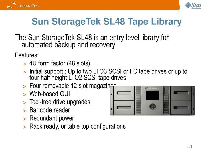 Sun StorageTek SL48 Tape Library