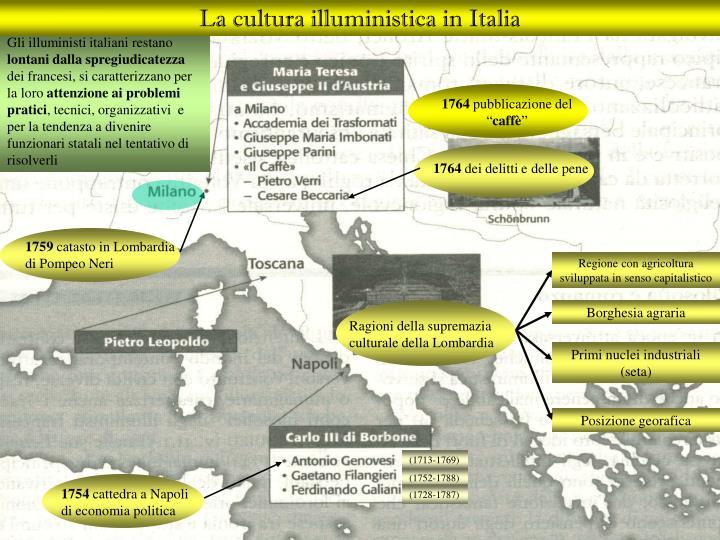 La cultura illuministica in Italia