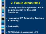 2 focus areas 2014