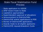 state fiscal stabilization fund process