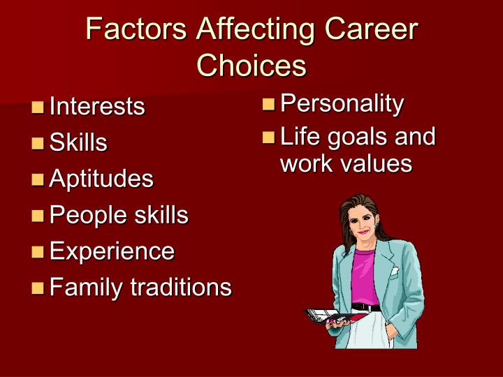 factors affecting career choices of freshmen students