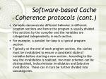 software based cache coherence protocols cont2