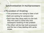 synchronization in multiprocessors2