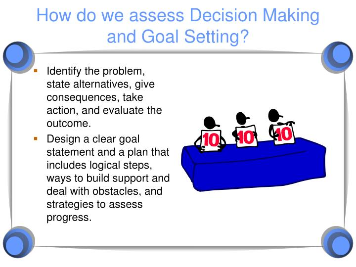 How do we assess Decision Making