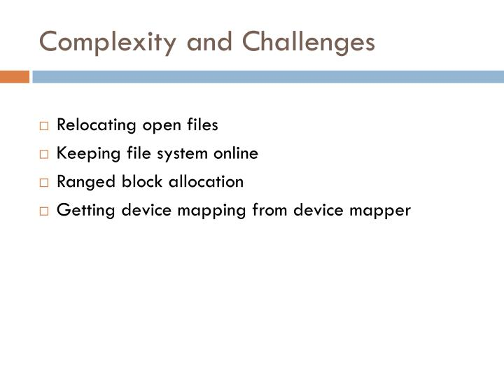 Complexity and Challenges