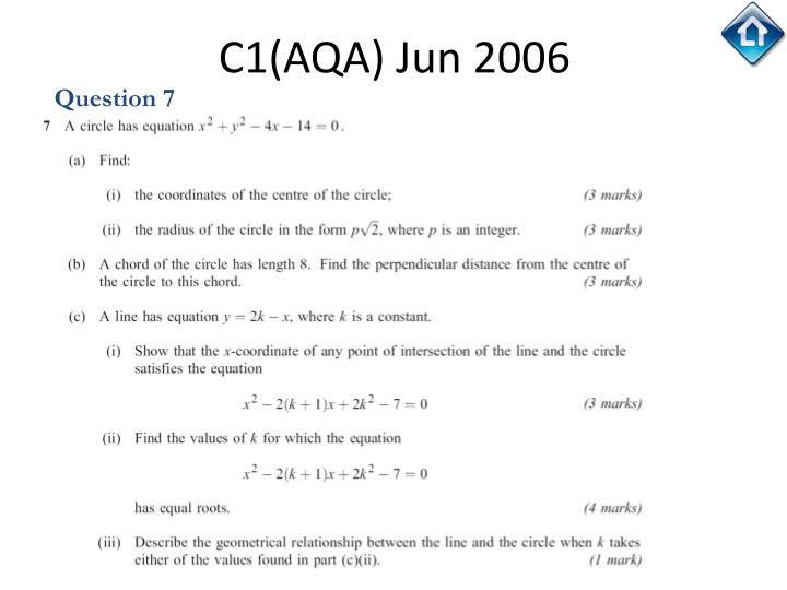 C1(AQA) Jun 2006