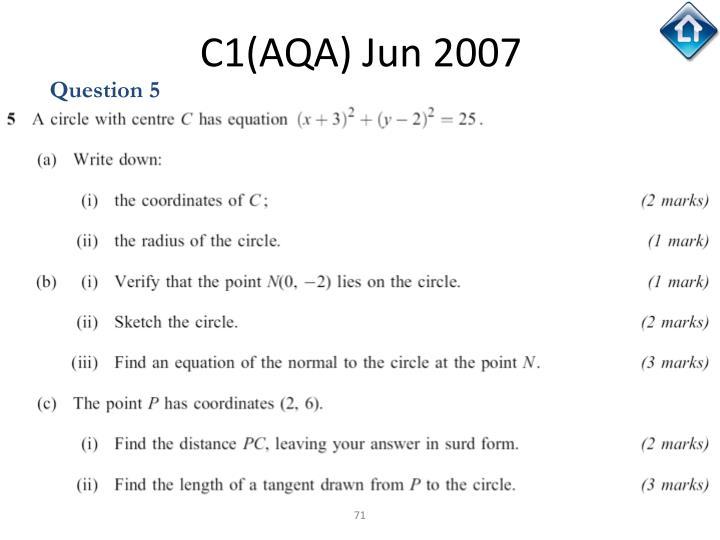 C1(AQA) Jun 2007