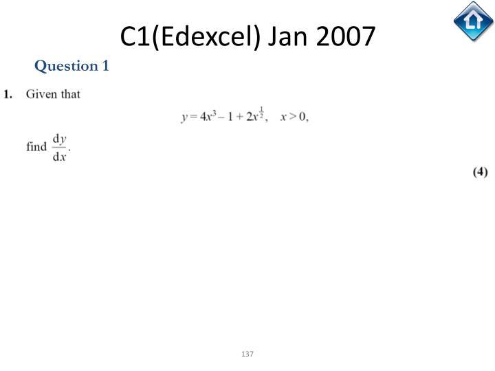 C1(Edexcel) Jan 2007