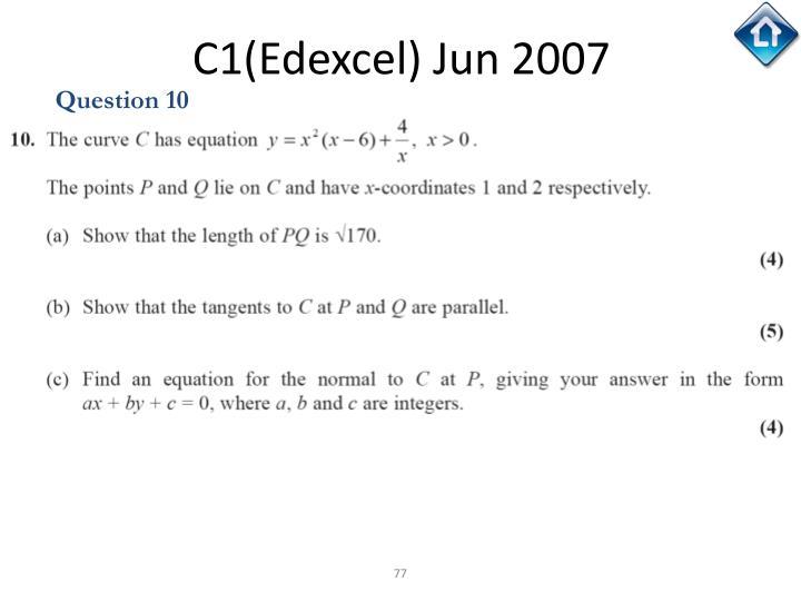 C1(Edexcel) Jun 2007