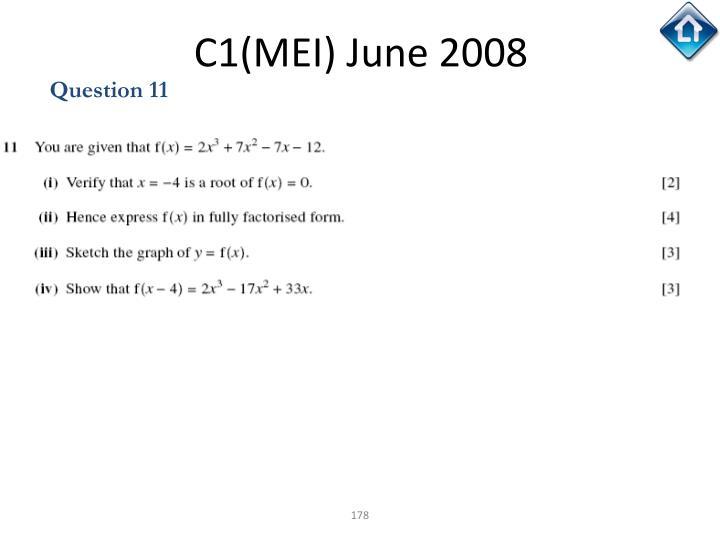 C1(MEI) June 2008