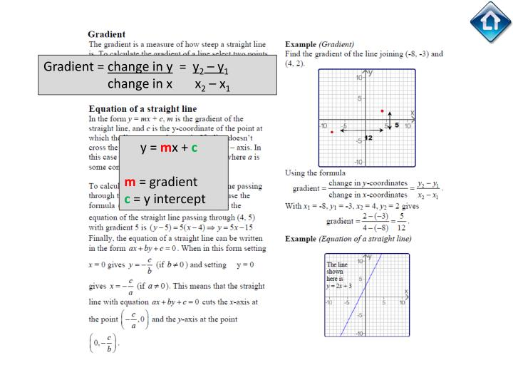 Gradient =