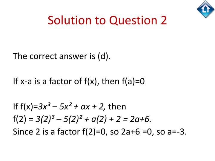 Solution to Question 2