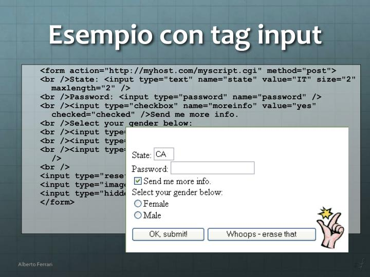 "<form action=""http://myhost.com/myscript.cgi"" method=""post"">"