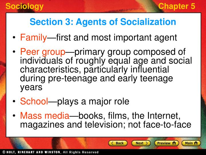 main agents of socialization