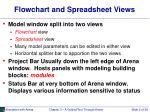 flowchart and spreadsheet views