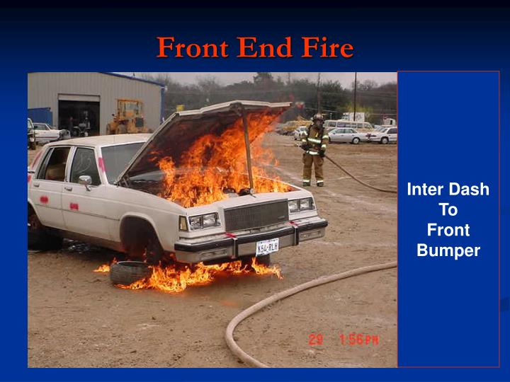 front end fire n.