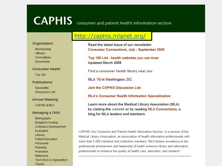 http://caphis.mlanet.org/