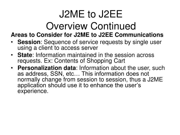 J2ME to J2EE