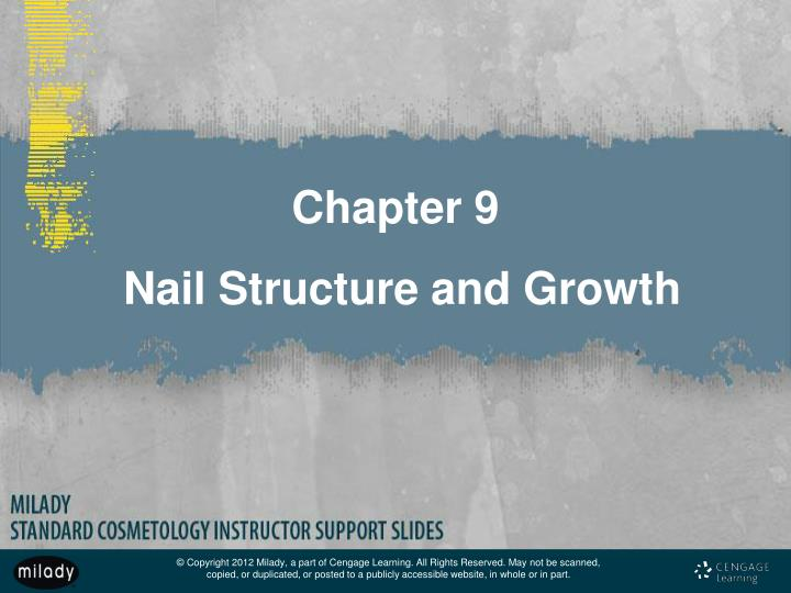 chapter 9 nail structure and growth n.