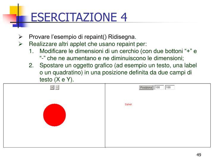 ESERCITAZIONE 4