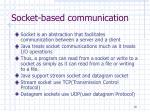 socket based communication