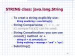 string class java lang string