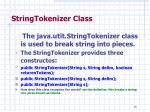 stringtokenizer class