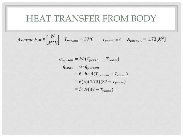 Heat transfer from body