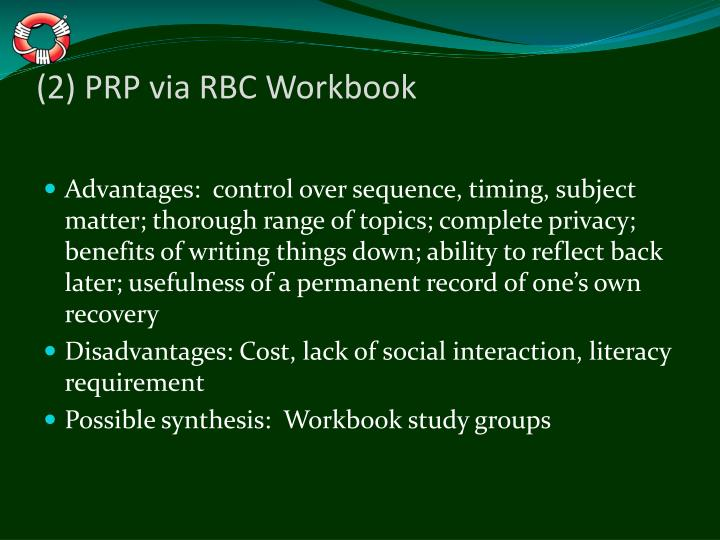 (2) PRP via RBC Workbook