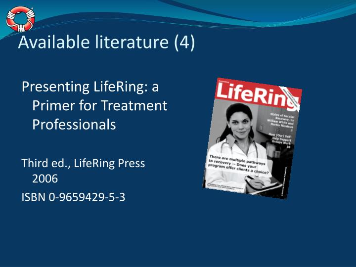 Available literature (4)