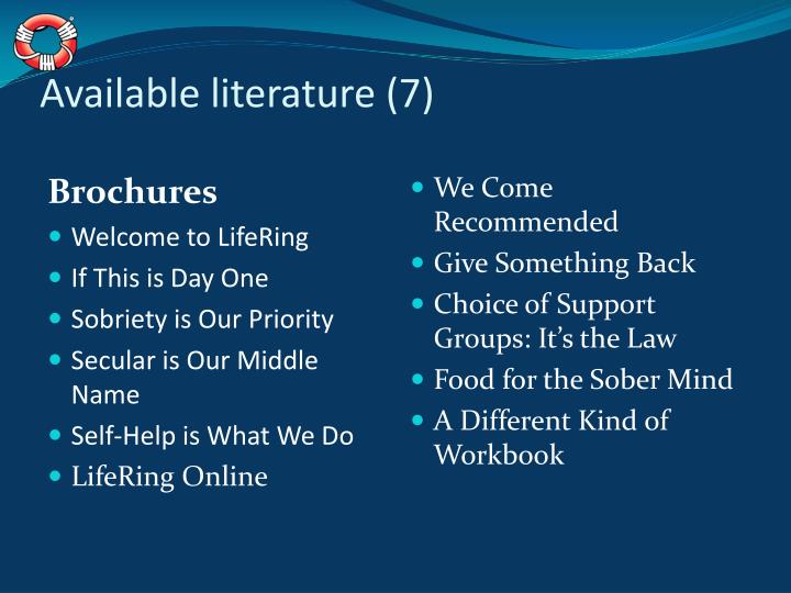 Available literature (7)
