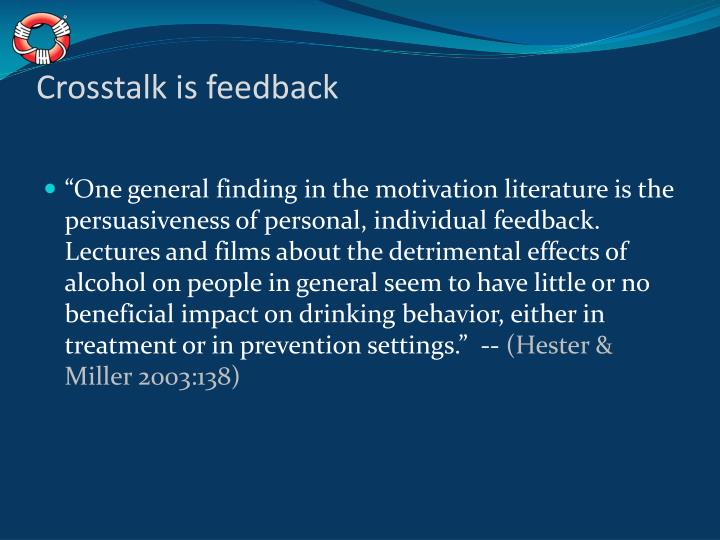 Crosstalk is feedback