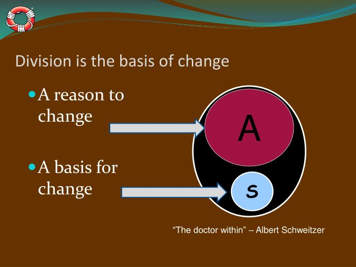 Division is the basis of change