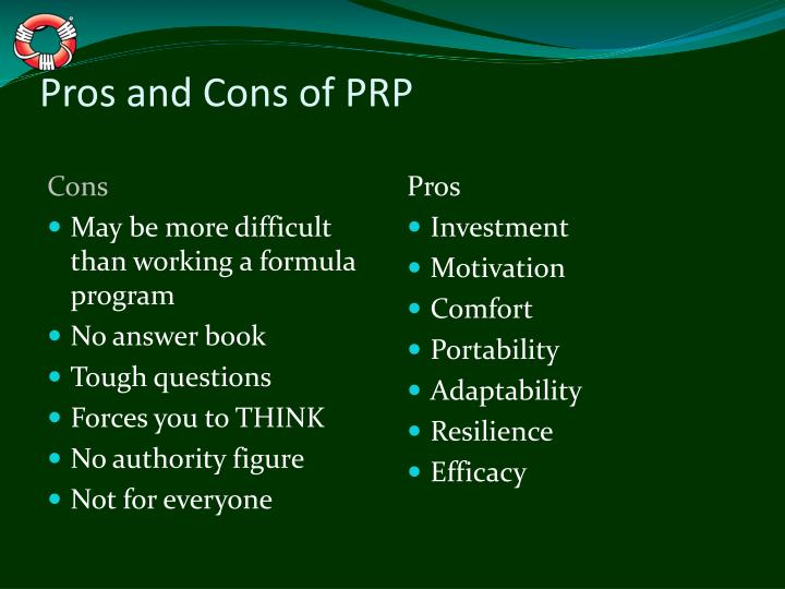 Pros and Cons of PRP