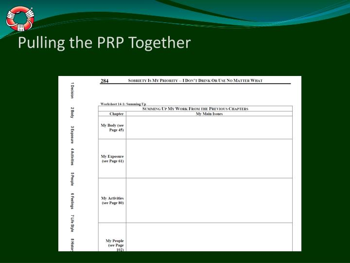 Pulling the PRP Together