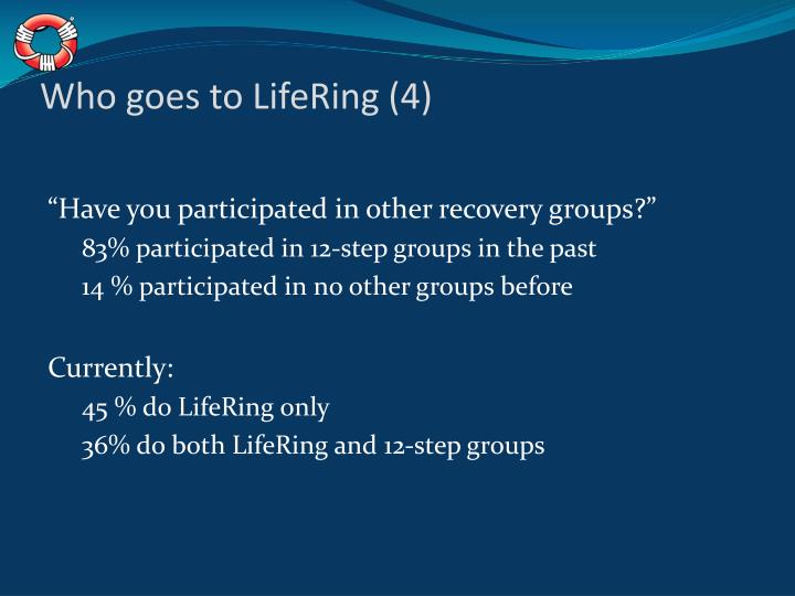 Who goes to LifeRing (4)