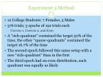 experiment 3 method