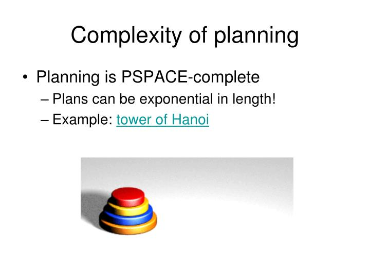 Complexity of planning