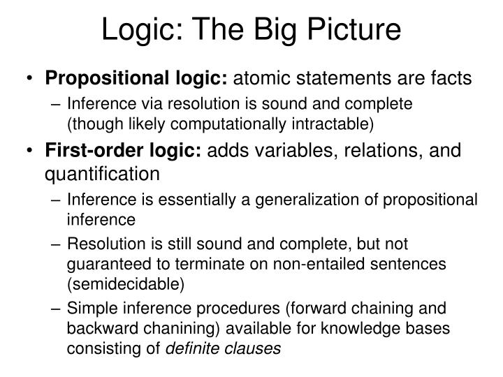 Logic the big picture