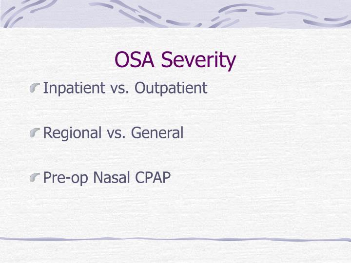 OSA Severity