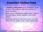 customer contact data