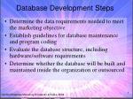 database development steps