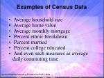examples of census data