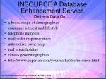 insource a database enhancement service delivers data on