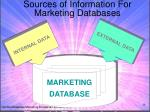 sources of information for marketing databases