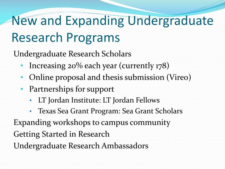 honors thesis tamu Campus-wide programs coordinated by launch: undergraduate research  include  the scholarly product may be a research thesis, an accepted article in  a.